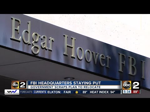 Report: Government scrapping search for new FBI headquarters