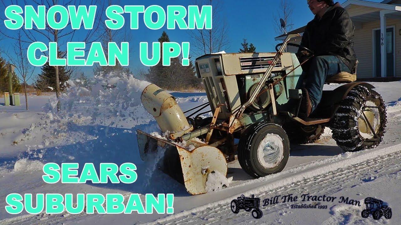 1969 Sears Suburban SS12 snow blower action!