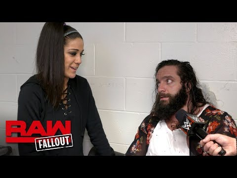Bayley checks on Elias after he was laid out by Braun Strowman: Raw Fallout, Feb. 12, 2018