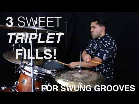 3 Sweet Triplet Fills For Halftime Shuffles & Swung Grooves- Drum Lesson