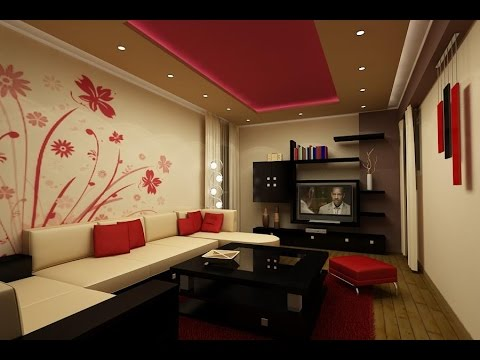 LCD Wall Unit Design For Living Room - Interior Art Designing - Al ...