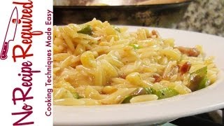 Orzo Risotto With Summer Vegetables - Pasta Recipes By Noreciperequired