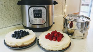 Instant Pot Insert Pans || Double Cheesecakes!