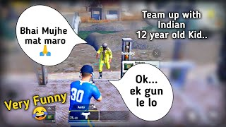 Team up with funny Indian kid in pubg mobile | Dramatic ending | Pubg mobile Hindi Gameplay