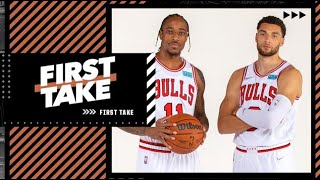 Stephen A. questions whether Zach LaVine & DeMar DeRozan can fit together on the court | First Take
