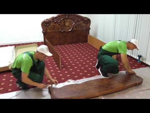 Спальня РОЗА. Как собрать кровать.