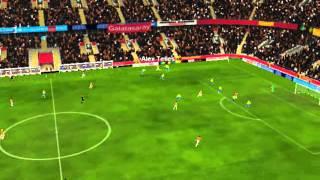 Galatasaray ile Steaua - Gol Alex Telles 42 dakika