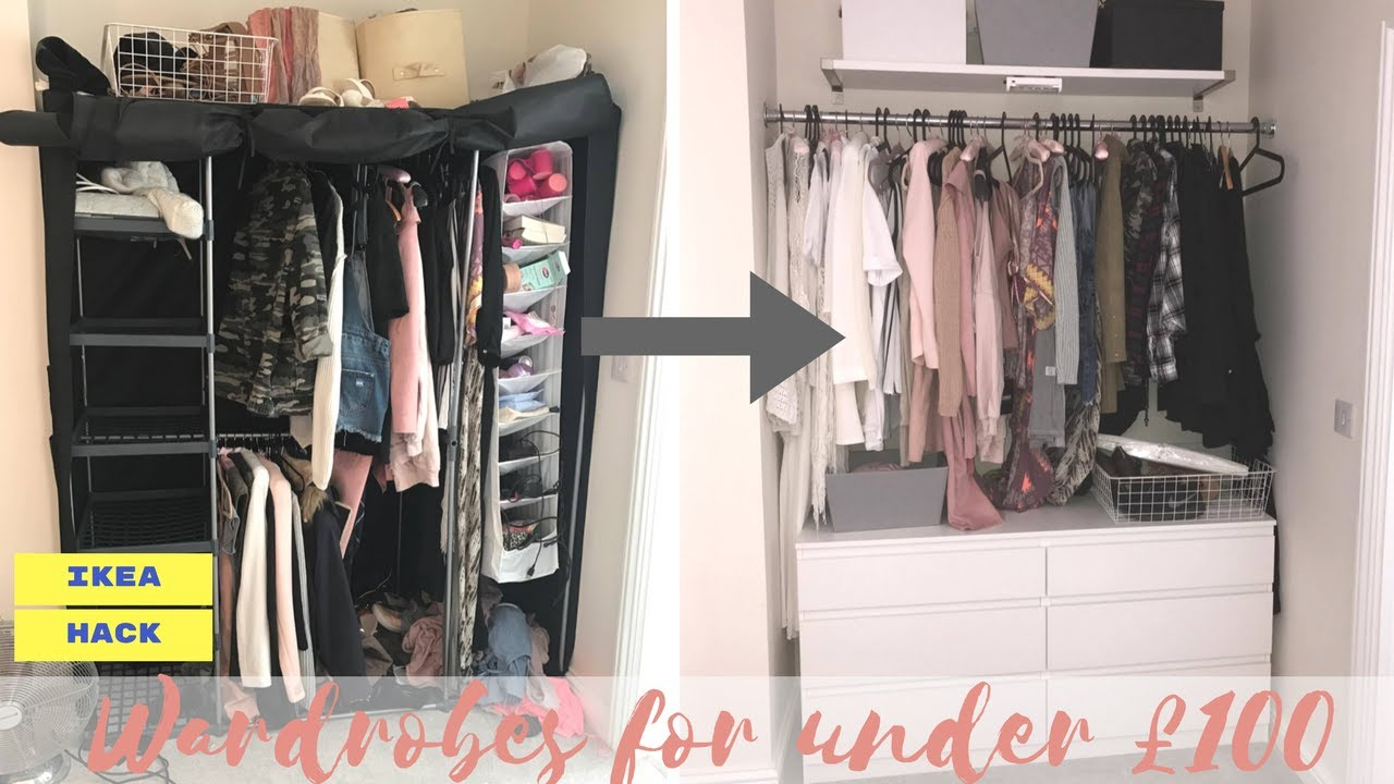 Wardrobes For Under 100 Ikea Hack Lucy Jessica Carter Youtube