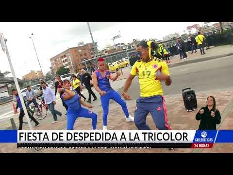 Miles de hinchas despidieron a la selección Colombia en El Campín