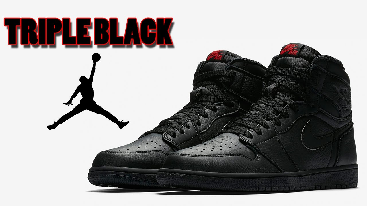 official photos 646ac b0047 Air Jordan 1 OG TRIPLE BLACK with Red, Nike KD 10 FIRST LOOK and More
