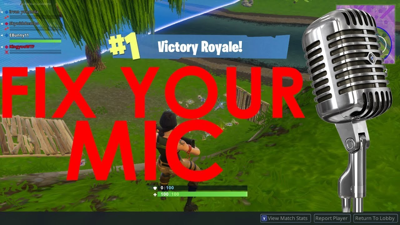 How To Get Mic To Work On Fortnite Pc - Fortnite How To ...