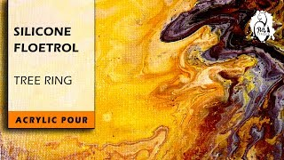 Silicone & Floetrol TreeRing Acrylic Pour: Lava River Experiment - #6
