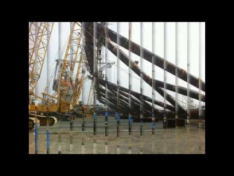 Onshore fabrication   Roll up Panle   Roll up Row   Lifting by cranes