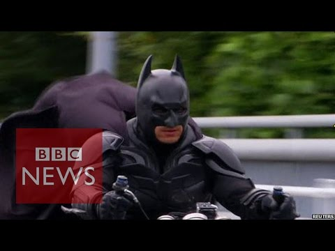 Meet Japan's Batman - Chibatman a real life Dark Knight- BBC News