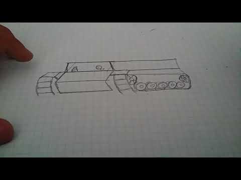 Как нарисовать танк КВ 2