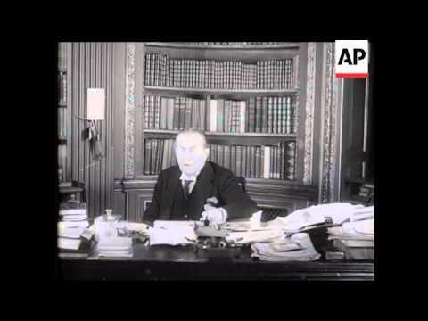 Rt Hon Stanley Baldwin MP in Screen Interview