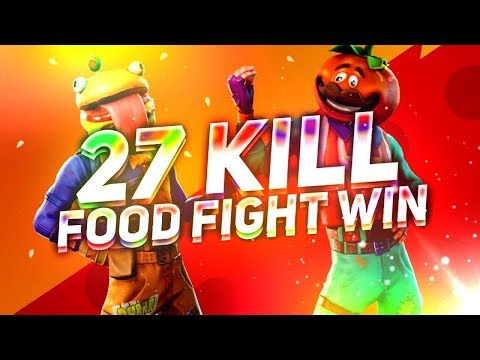 27 Kills *Solo* In Food Fight! Fortnite Battle Royale LTM High Kill Game
