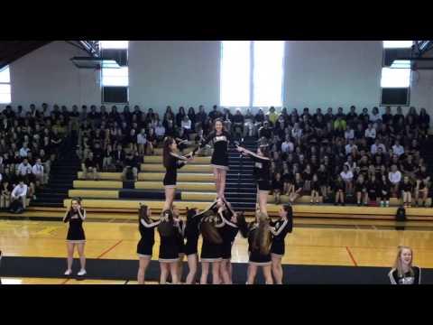 Lutheran High School South Cheerleaders Senior Night 2015