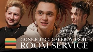 Download Room Service: GONE.Fludd, CAKEBOY & IROH Mp3 and Videos