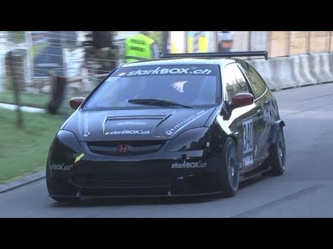 Very Fast and Loud Honda Civic Type R EP3 at Swiss Hillclimb 2013 by Daniel Kammer