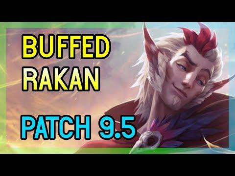 PATCH 9.5 NEW RAKAN SUPPORT BUFF - League of Legends thumbnail