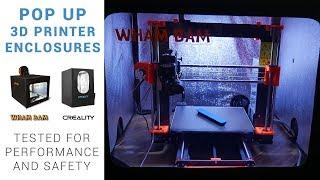 Pop up 3D printer enclosures t…