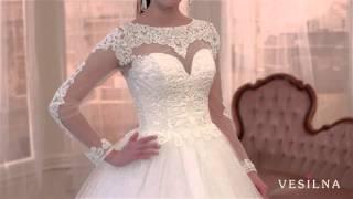 Пышное свадебное платье с рукавами и вышивкой от VESILNA™ модель 3020