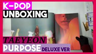 Unboxing TAEYEON [Purpose] 2nd album Deluxe K-pop Unboxing 태…