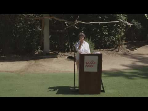 San Diego Zoo Global Board Trustee Emeritus Nan Katona Introducing Kids Eco Club founder Max Guinn