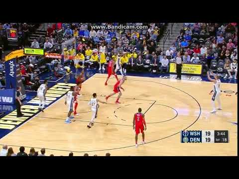 Nikola Jokic 3-pointer AGAIN! - Denver Nuggets vs. Washington Wizards - NBA - 23/10/2017