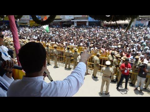 Karnataka Election 2018: Congress President Rahul Gandhi addresses a gathering in Pavagada