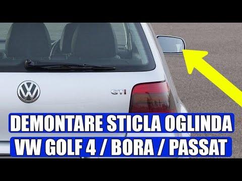 TUTORIAL: Cum Se Demonteaza / Scoate Sticla De Pe Oglinda La VW Golf 4