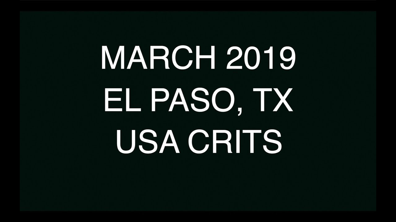 EL PASO EXPERIENCE - USA CRITS