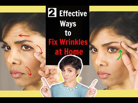 2 EFFECTIVE ways to get rid of FACE WRINKLES WITHOUT SURGERY AND BOTOX! Best anti-aging tips