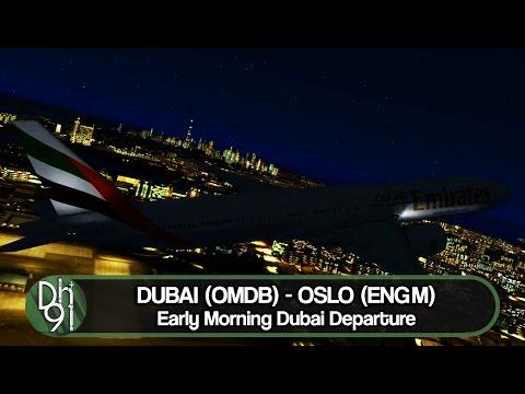P3D V3 Full Flight l Early Morning Departure out of Beautiful Dubai l OMDB ✈ ENGM l PMDG 777W