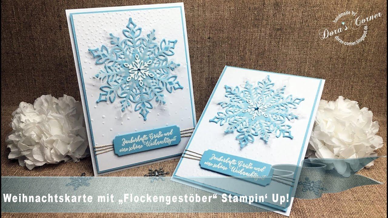 Weihnachtskarte Schneegestober