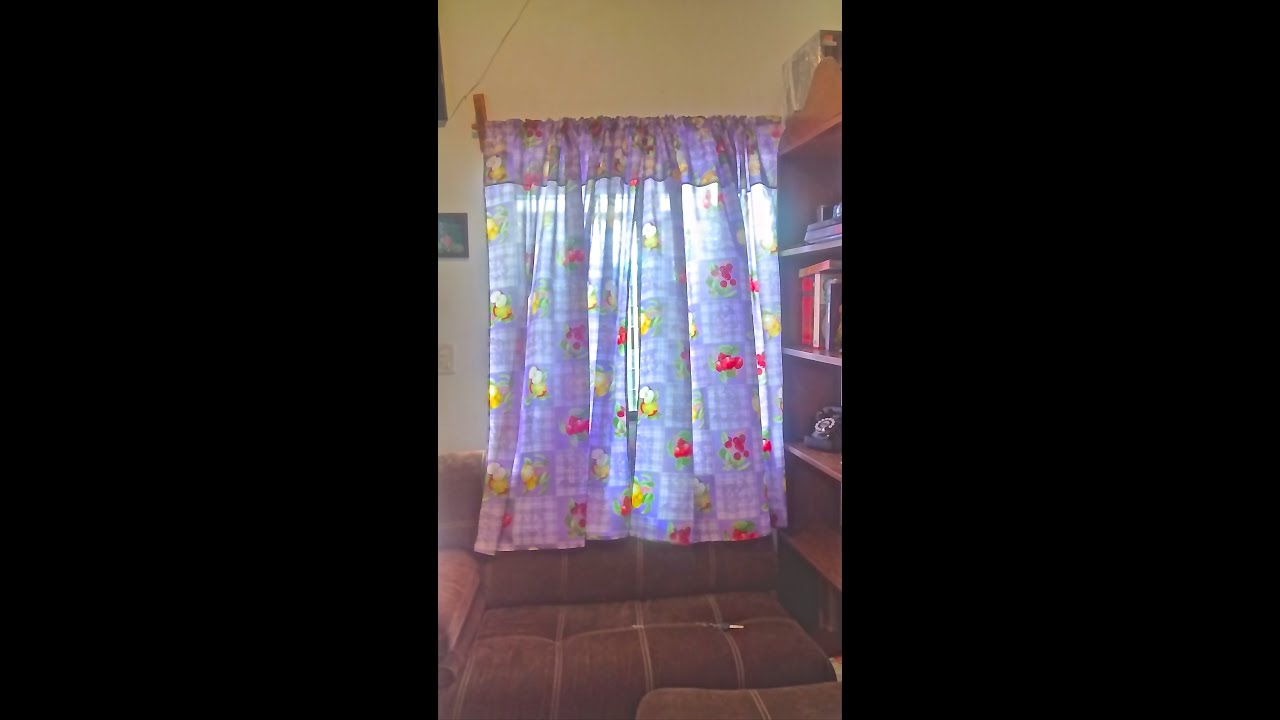 Como hacer unas cortinas sencillas youtube for Cortinas para aulas