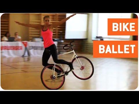Girl Performs Impressive Bike Tricks | Balancing Act - YouTube