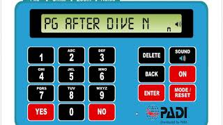 How to plan your dive using the PADI ERDPml