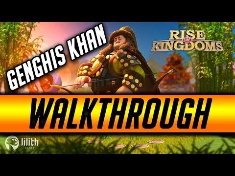 Genghis Khan Commander [Walk Through] Best Legendary Nuker   Rise of Kingdoms