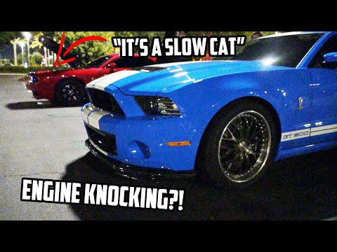 YOUNG Shelby GT500 owner RUINS ENGINE racing a HELLCAT!