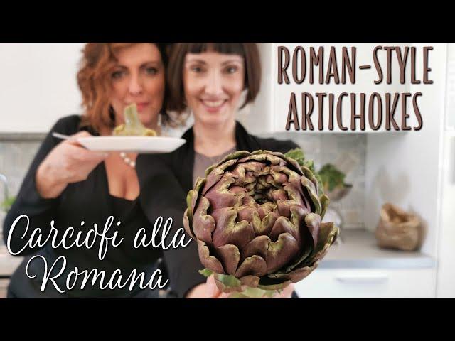 Roman Style Artichokes Carciofi alla Romana Recipe - Foodie Sisters in Italy