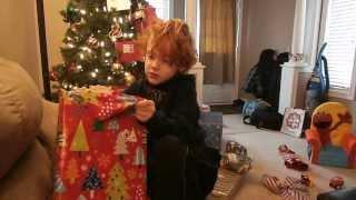 Owen reacts to getting Skylanders Swap Force from Santa for Christmas