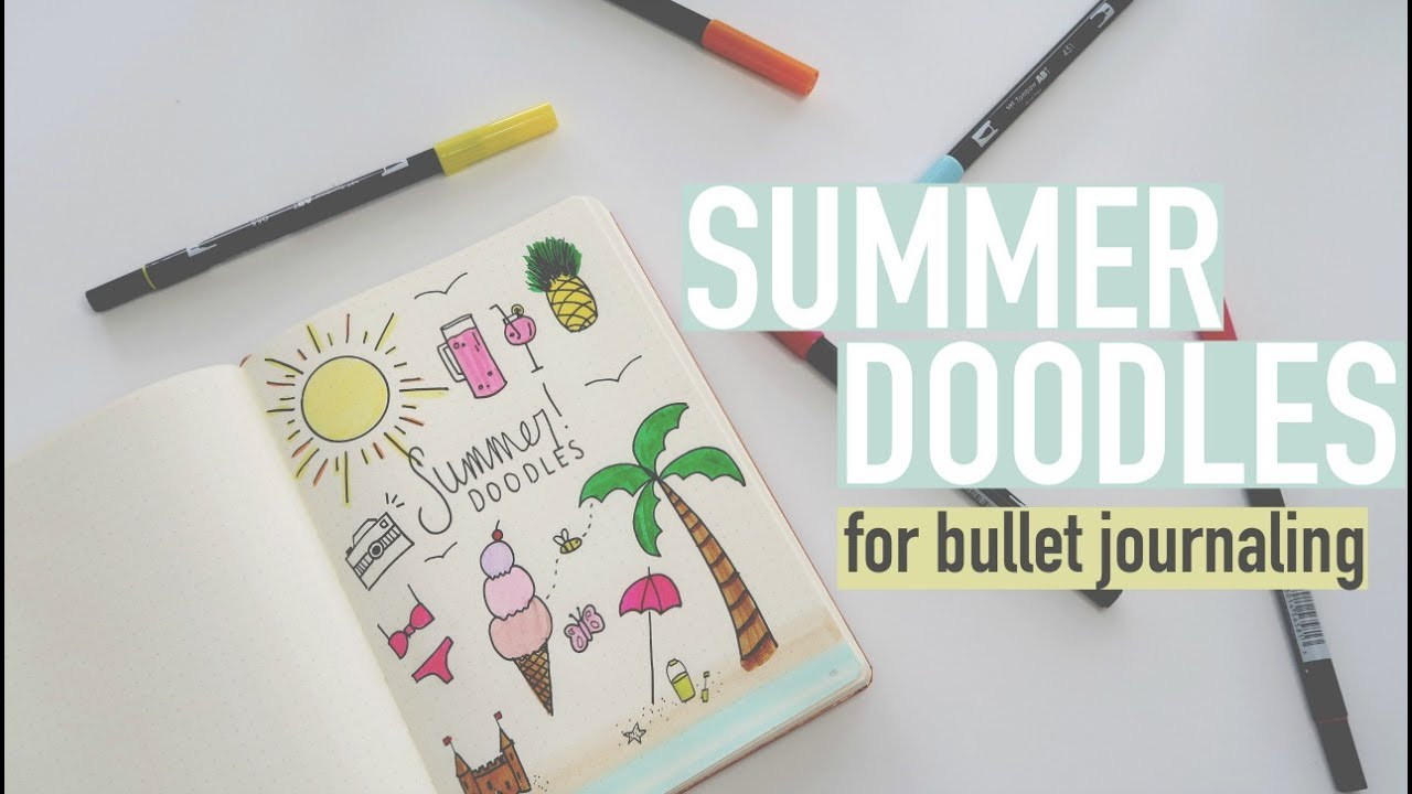 bullet journal summer doodles