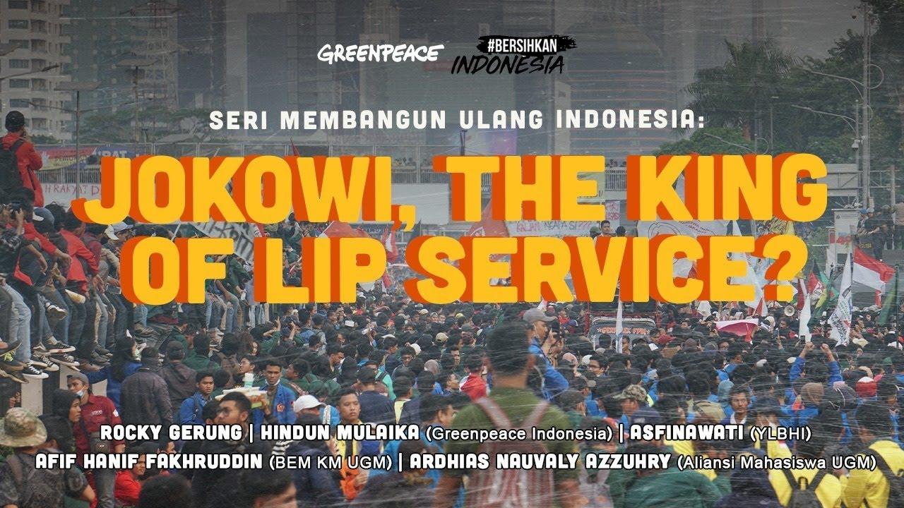 "Diskusi Seri Membangun Ulang Indonesia ""Jokowi The King of Lip Service"""
