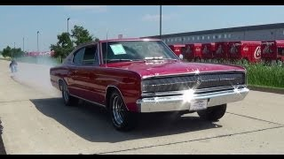 test drive and burnout 1966 dodge charger 426 hemi muscle car fast lane classic cars