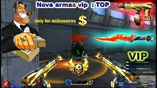 Blood Strike : Novas Armas VIP : TOP  New Heroic Weapons for millionaires BS CHinese