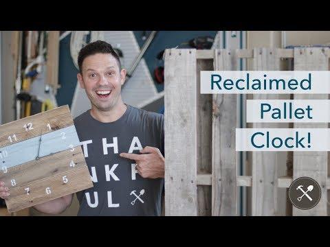 DIY Reclaimed Pallet Clock