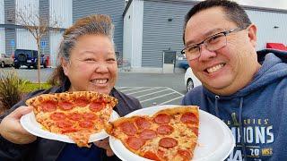 COSTCO Vs SAM'S CLUB   Pizza And Hot Dog Shootout!