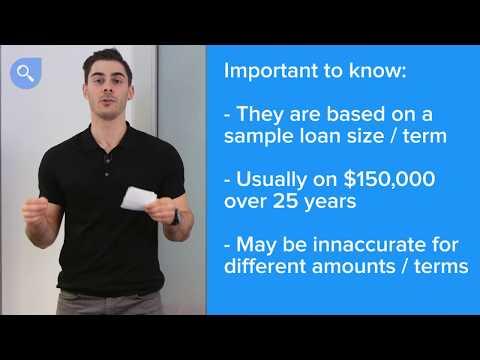 How comparison rates work | finder.com.au